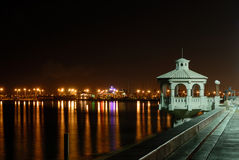 Promenade In Corpus Christi At Night Royalty Free Stock Photography