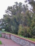 Promenade. Inside the Oradea fortress Stock Photo