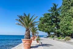 The promenade in Isola on the Adriatic coast of Slovenia Stock Photo