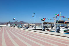 Promenade in Khor Fakkan, Fujairah Royalty Free Stock Photography