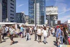 Promenade in Köln, Deutschland Lizenzfreies Stockfoto