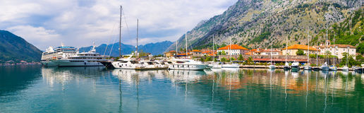 The promenade of Kotor Stock Photography