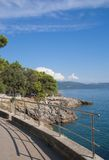 Promenade of Krk Town,Krk Island,Croatia Stock Images