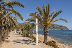 Promenade in La Azohia, southern Spain Stock Photography