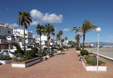 Promenade in La Duquesa, Spain. Promenade in La Duquesa, Costa del Sol, Andalusia Spain stock photo
