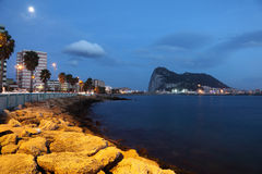 Promenade of La Linea and Gibraltar Stock Images