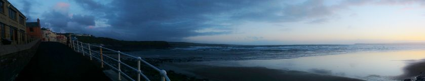 Promenade of Lahinch in the evening, County Clare, Ireland Royalty Free Stock Photography