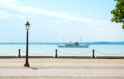 Promenade at Lake Balaton Royalty Free Stock Image