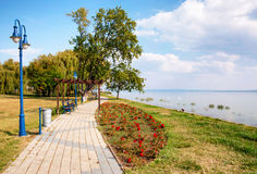 Promenade at Lake Balaton Royalty Free Stock Photography