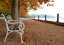 Promenade at Lake Balaton in autumn Royalty Free Stock Photo