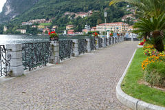 Promenade at lake Como, Italy Stock Image