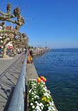 Promenade at the Lake Constance Royalty Free Stock Image