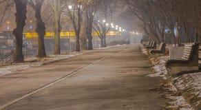 Promenade langs de rivier Sava, Belgrado Royalty-vrije Stock Afbeeldingen
