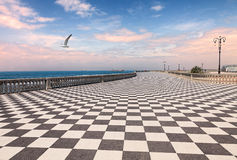 Promenade of Livorno, Tuscany, Italy Royalty Free Stock Photography