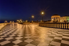 Promenade of Livorno, Tuscany, Italy Royalty Free Stock Images