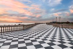 Promenade of Leghorn (Livorno), Tuscany, Italye Stock Image