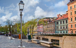 Promenade in Ljubljana Stock Images