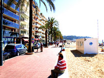 Promenade, Lloret-de-mar, Spain Royalty Free Stock Photos