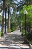 'promenade' a lo largo del mar en Alicante fotos de archivo libres de regalías