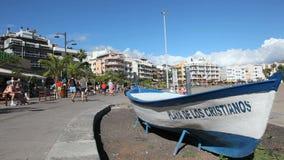 Promenade in Los Cristianos, Tenerife, Spain Royalty Free Stock Images