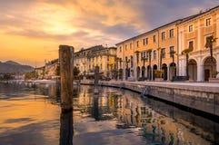 Promenade Lungolago In Salo On Lake Garda, Italy Stock Photos