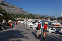 Promenade in Makarska, Croatia Stock Photography