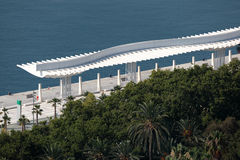 Promenade in Malaga, Spain Stock Image