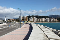 Promenade in Malaga, Spain Royalty Free Stock Images