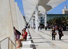 Promenade in Malaga, Spanje royalty-vrije stock fotografie