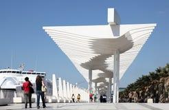 Promenade in Malaga, Spanje stock foto's