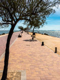 Promenade on Mar Menor, Spain Royalty Free Stock Photos