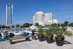 Promenade at the Marina in Abu Dhabi Stock Image