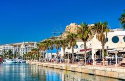 Promenade in the Marina of Alicante, Spain Royalty Free Stock Photo