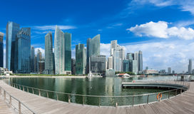 Promenade on the Marina bay of Singapore Royalty Free Stock Image