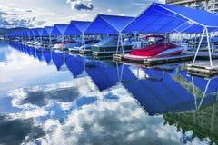 Promenade Marina Lake Coeur D ` Alene Idaho Royalty-vrije Stock Afbeeldingen