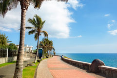 Promenade in Maspalomas on Canary islands Stock Image