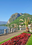 Promenade in Menaggio,Lake Como,Comer See Royalty Free Stock Photography