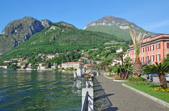 Promenade in Menaggio,Lake Como,Comer See Stock Image