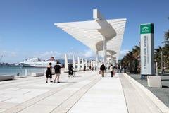 Promenade in Malaga, Spanje royalty-vrije stock foto