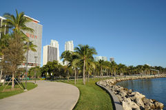 Promenade in Miami, Florida Royalty Free Stock Photos