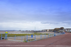 Promenade in Morecambe Lancashire het UK royalty-vrije stock foto's