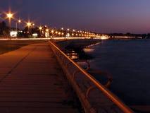 Promenade nachts Lizenzfreie Stockfotos
