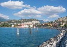 Promenade of Nago-Torbole,Lake Garda,Italy royalty free stock photos