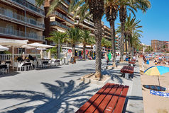 Promenade near the Playa del Cura in Torrevieja city Stock Image