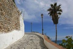 Promenade in Nerja famous resort on Costa del Sol, Spain. Promenade in Nerja famous resort on Costa del Sol, Malaga, Spain Royalty Free Stock Photos