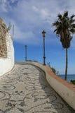Promenade in Nerja famous resort on Costa del Sol, Spain. Promenade in Nerja famous resort on Costa del Sol, Malaga, Spain Stock Photos