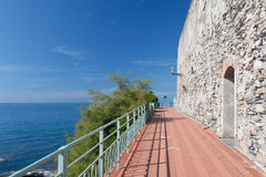 Promenade in Nervi, Genova Royalty Free Stock Images