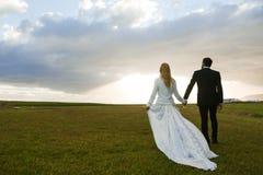 Promenade of newlyweds Royalty Free Stock Photo