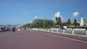 Promenade at Nice in France stock footage