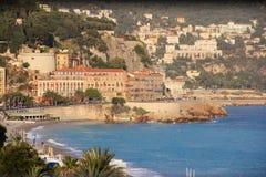 Promenade in Nice, Frankrijk Stock Foto's